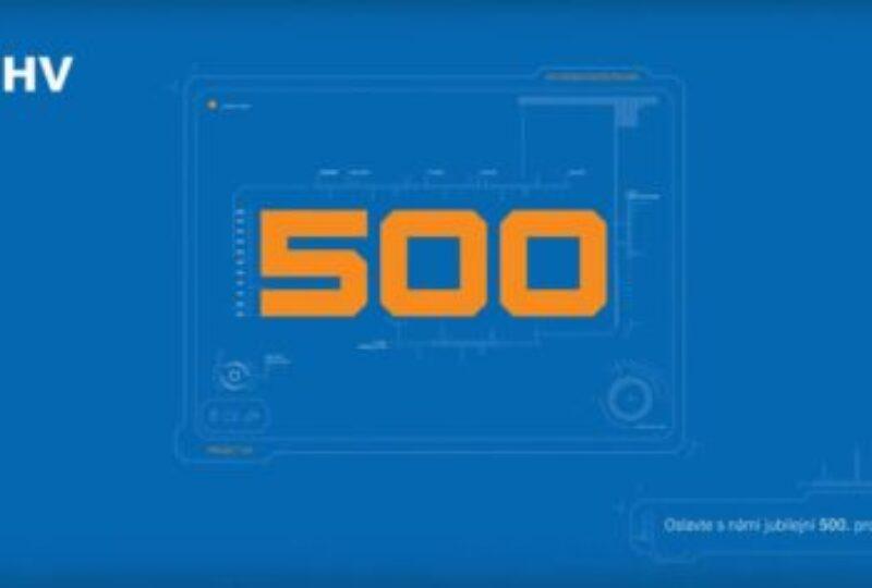 Slavíme 500. projekt 🥳